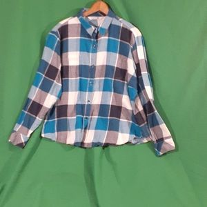 Riders by lee xxl plaid cotton button down